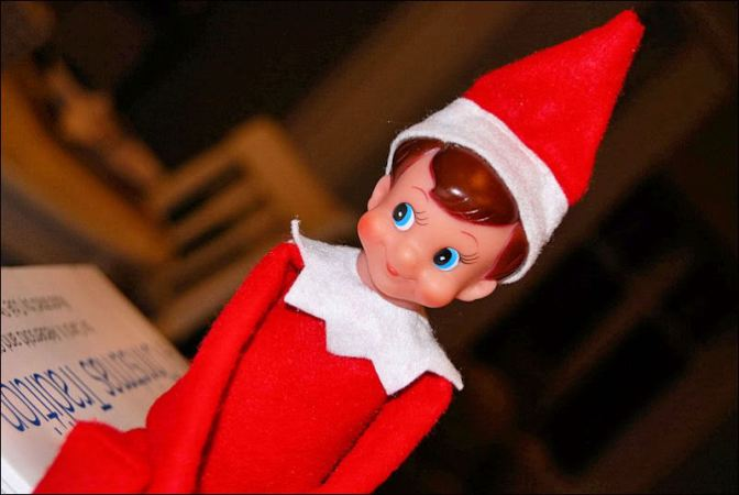 Putting out the Elf on the Shelf